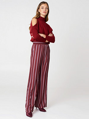 NA-KD randiga byxor High Waist Wide Pants multicolor