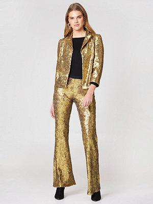 Twinset omönstrade byxor Pantalone Oro Free Pants
