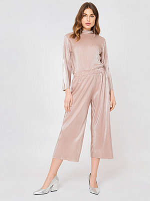 Rut & Circle Stella Pleat Pant - Ankelbyxor beige