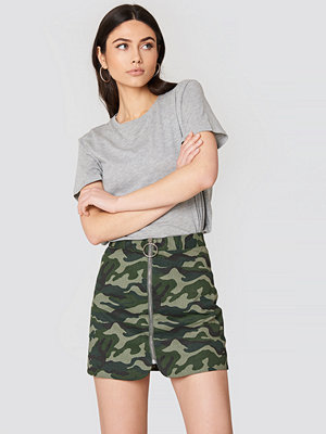 English Factory Camo Zipper Skirt