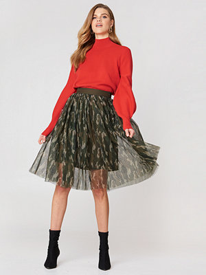 English Factory Camo Mesh Skirt