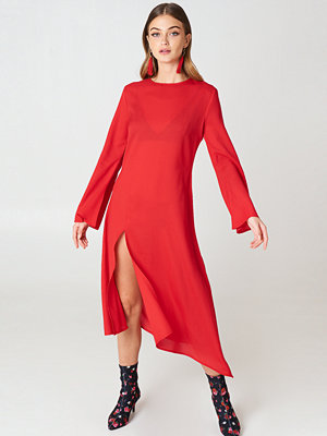 NA-KD Trend High Slit Asymmetric Midi Dress