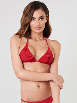 NA-KD Swimwear V neck Frill Bikini Top