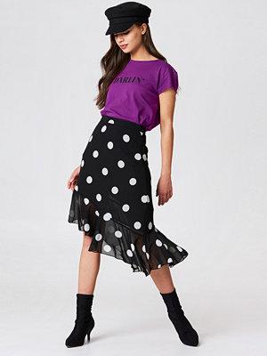 NA-KD Asymmetric Ruffle Chiffon Skirt - Midikjolar