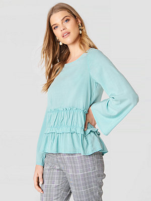 Rut & Circle Venda Waist Seam Blouse blå