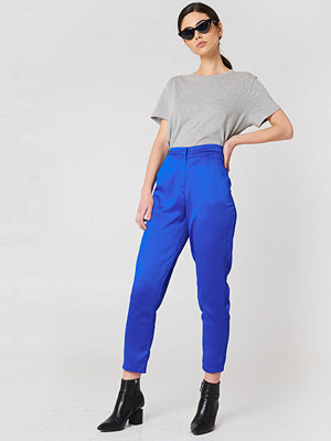 Rut & Circle Ginny Shiny Pant blå byxor
