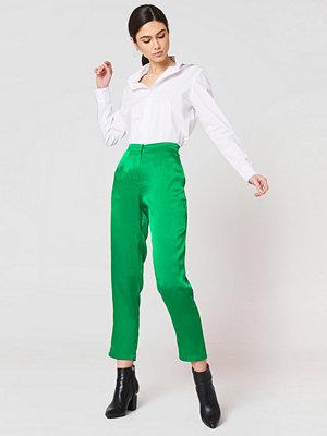 Rut & Circle gröna byxor Ginny Shiny Pant grön