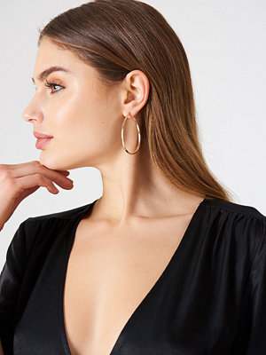 NA-KD Accessories smycke Oval Structured Hoop Earrings