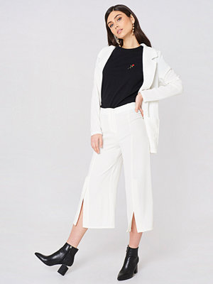 Rut & Circle vita byxor Ofelia Pant With Slit vit