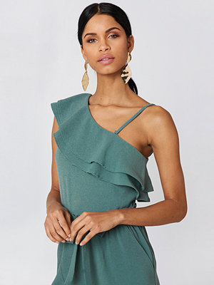 Rut & Circle Ofelia One Shoulder Top grön