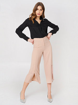 Rut & Circle omönstrade byxor Ofelia Pant With Slit rosa