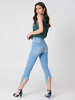 Hannalicious x NA-KD Slit Back Jeans - Influencer Collections