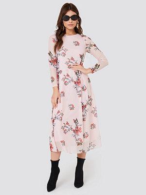 Rut & Circle Long Sleeve Mesh Dress - Midiklänningar