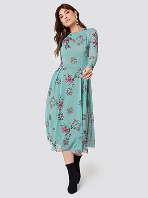 Rut & Circle Long Sleeve Mesh Dress - Midiklänningar