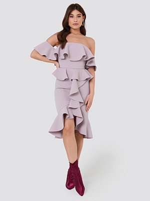 True Decadence Off Shoulder Ruffle Dress