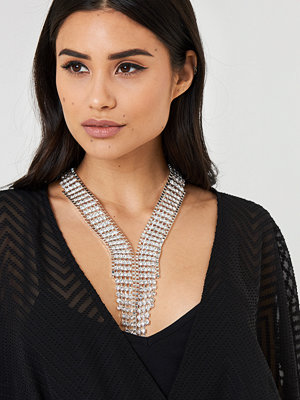 NA-KD Accessories smycke Art Deco Rhinestone Necklace
