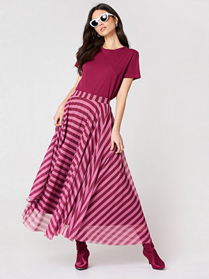 NA-KD Striped Mesh Skirt - Maxi