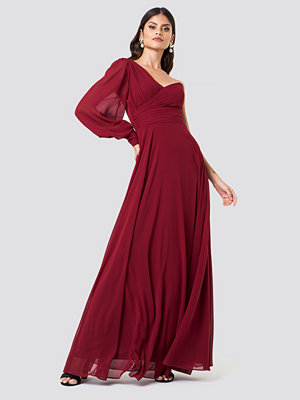 Trendyol Draped One Shoulder Maxi Dress