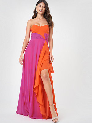 Trendyol Blocked Slit Maxi Dress