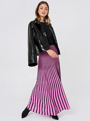 NA-KD Trend Striped Knitted Skirt