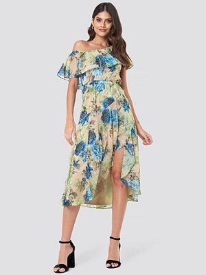 Trendyol Off Shoulder Ruffle Midi Dress