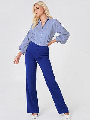 Trendyol Wide Suit Pants - Byxor marinblå