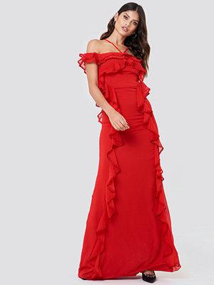 Trendyol Halter Strap Frill Maxi Dress - Maxiklänningar