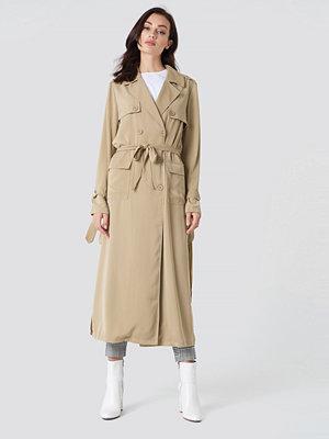 NA-KD Classic Trench Coat beige