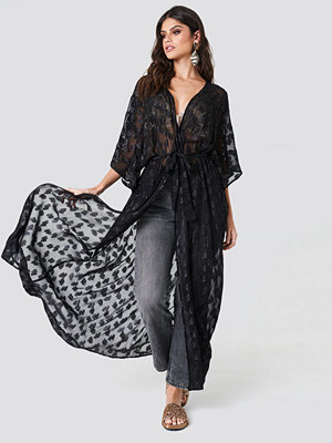 NA-KD Boho Glitter Coat Dress