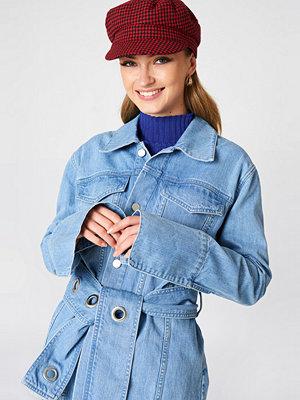 Jeansjackor - NA-KD Trend Belted Denim Jacket