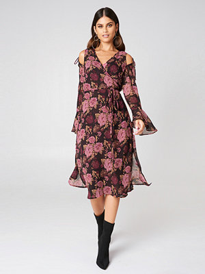 NA-KD Boho Tie Sleeve Caftan Dress - Kaftan