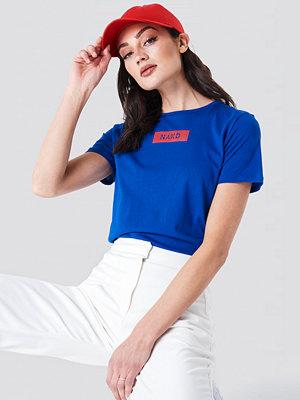 T-shirts - NA-KD NA-KD Logo Tee blå