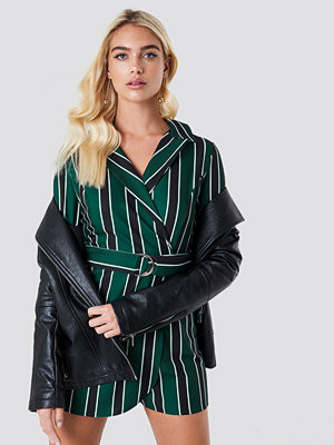 Trendyol Striped Wrap Playsuit