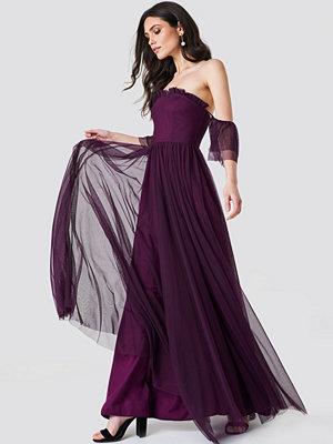 Trendyol Off Shoulder Tulle Maxi Dress - Maxiklänningar