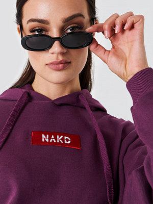 NA-KD NA-KD Logo Hoodie lila