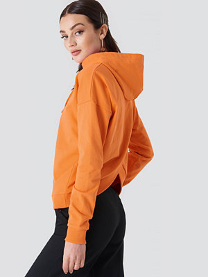 NA-KD Back Overlap Hoodie orange