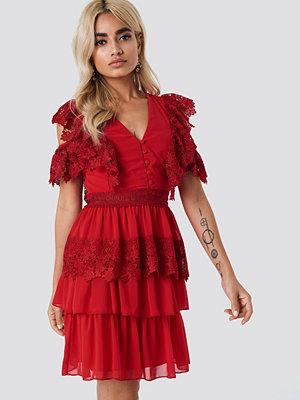Trendyol Buttoned Lace Mini Dress - Miniklänningar