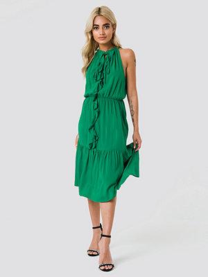 Trendyol Neck Drawstring Midi Dress - Midiklänningar
