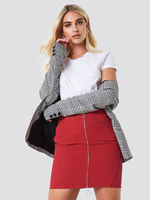 NA-KD Front Zipper Pencil Denim Skirt