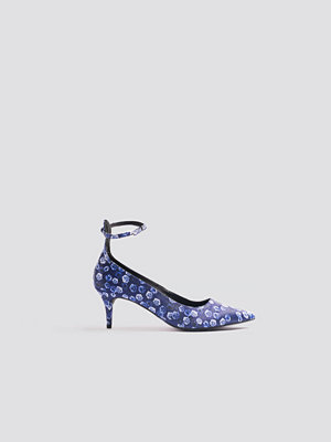 Pumps & klackskor - NA-KD Shoes Satin Ankle Strap Pumps blå