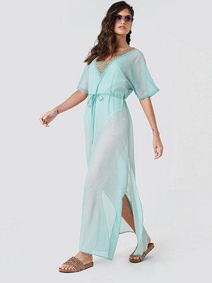 NA-KD Boho Embellished Caftan Dress
