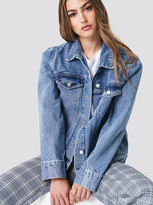 NA-KD Regular Denim Jacket blå