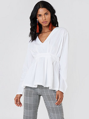 NA-KD Trend Gathered Sleeve Oversize Blouse - Blusar