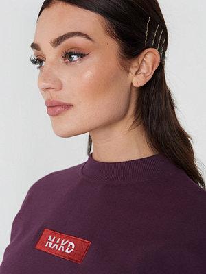NA-KD NA-KD Logo Sweater lila