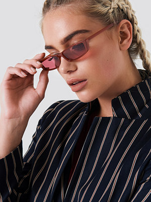 NA-KD Urban Wide Rectangle Sunglasses - Solglasögon