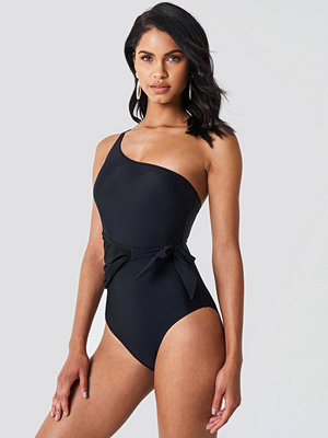 Trendyol One Shoulder Tie Waist Swimsuit - Baddräkter