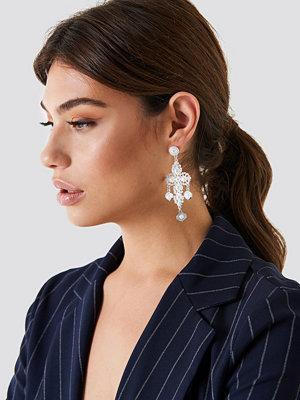 NA-KD Accessories smycke Pearl Detail Cross Earrings
