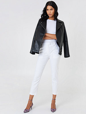 NA-KD Trend vita byxor Linen Look Pants