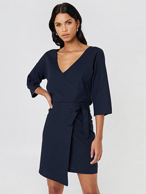 NA-KD Trend Wrap Mini Linen Look Skirt