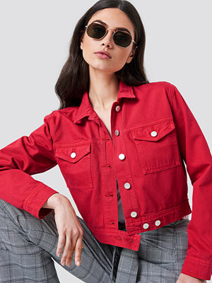 NA-KD Trend Cropped Denim Jacket - Jeansjackor